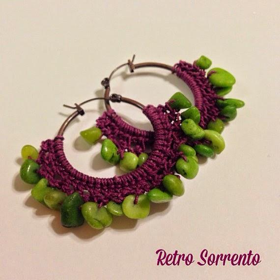 Crochet hoops $18