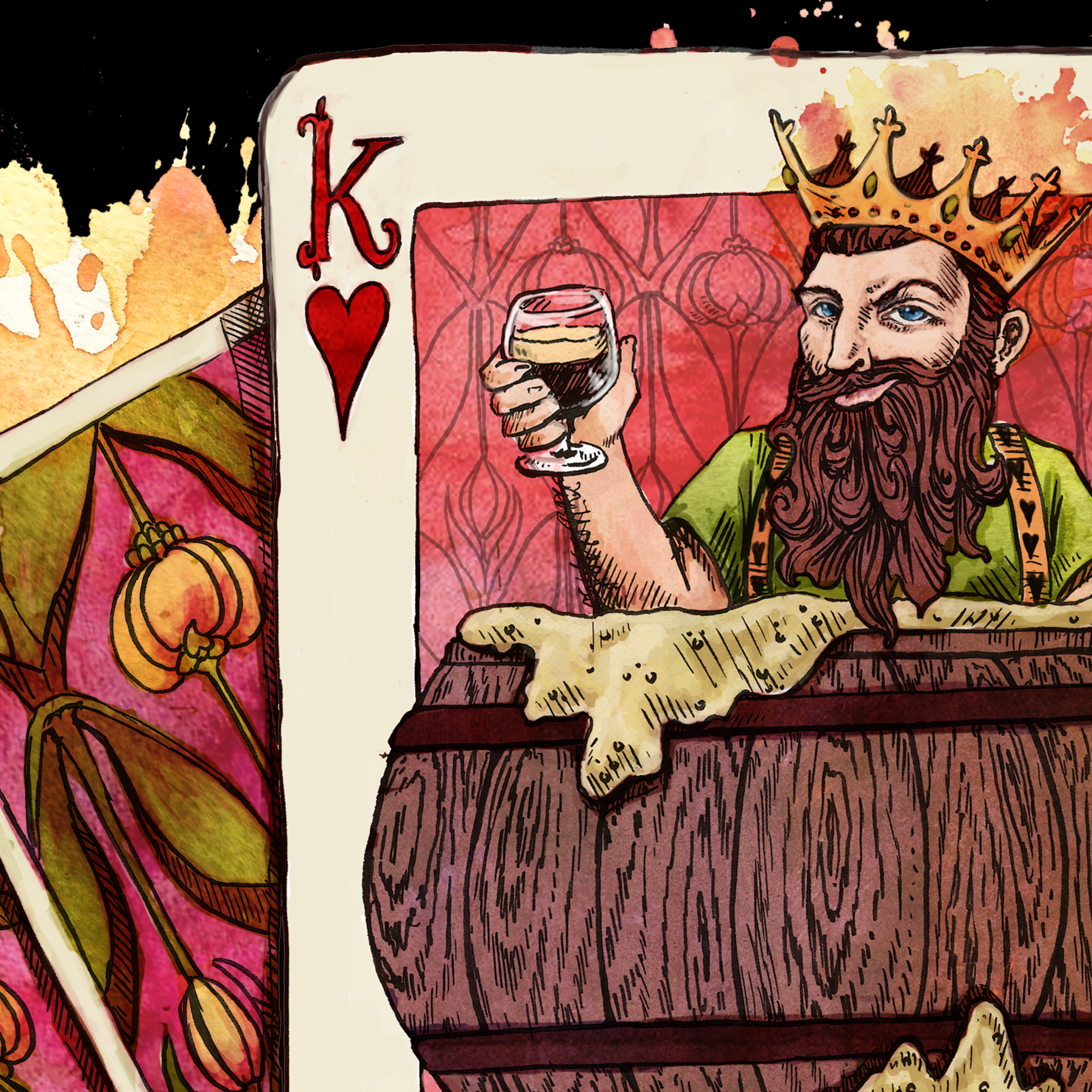 Basking in Bourbon Freelance Beer Illustration