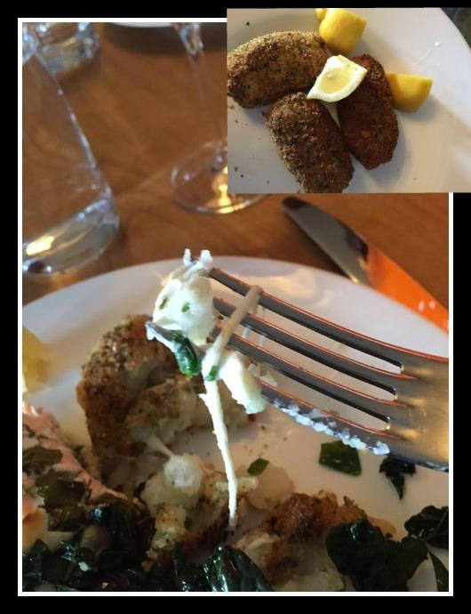 Potato Croquettes with Di Palo's mozzarella.