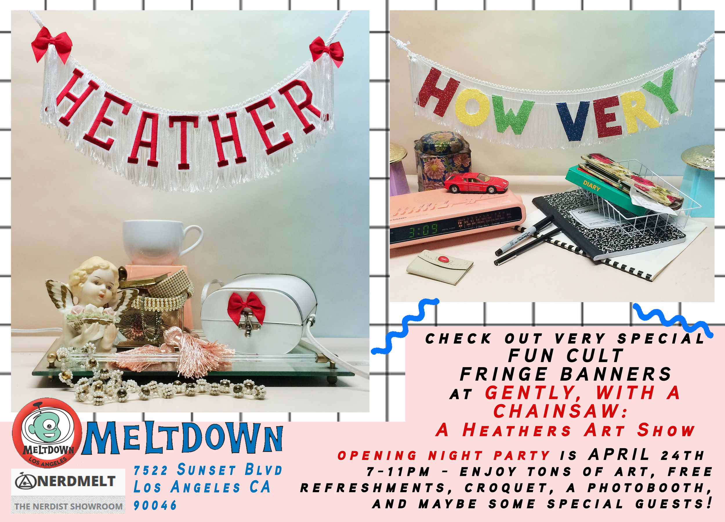 FUN CULT was part of a show curated for MELTDOWN inspired by HEATHERS