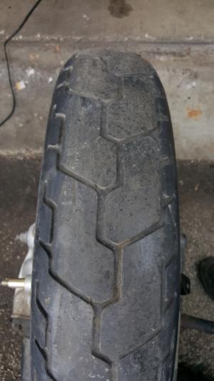 Tire looks square.