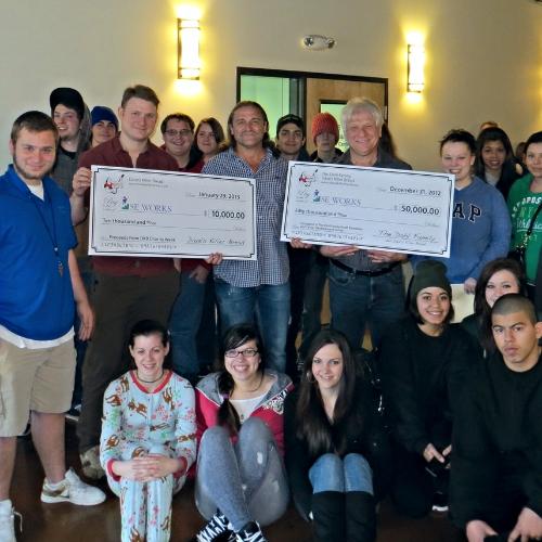 Shobi, Dave and Glenn Dahl awarding $60,000 in grants to SE Works in Portland, Oregon