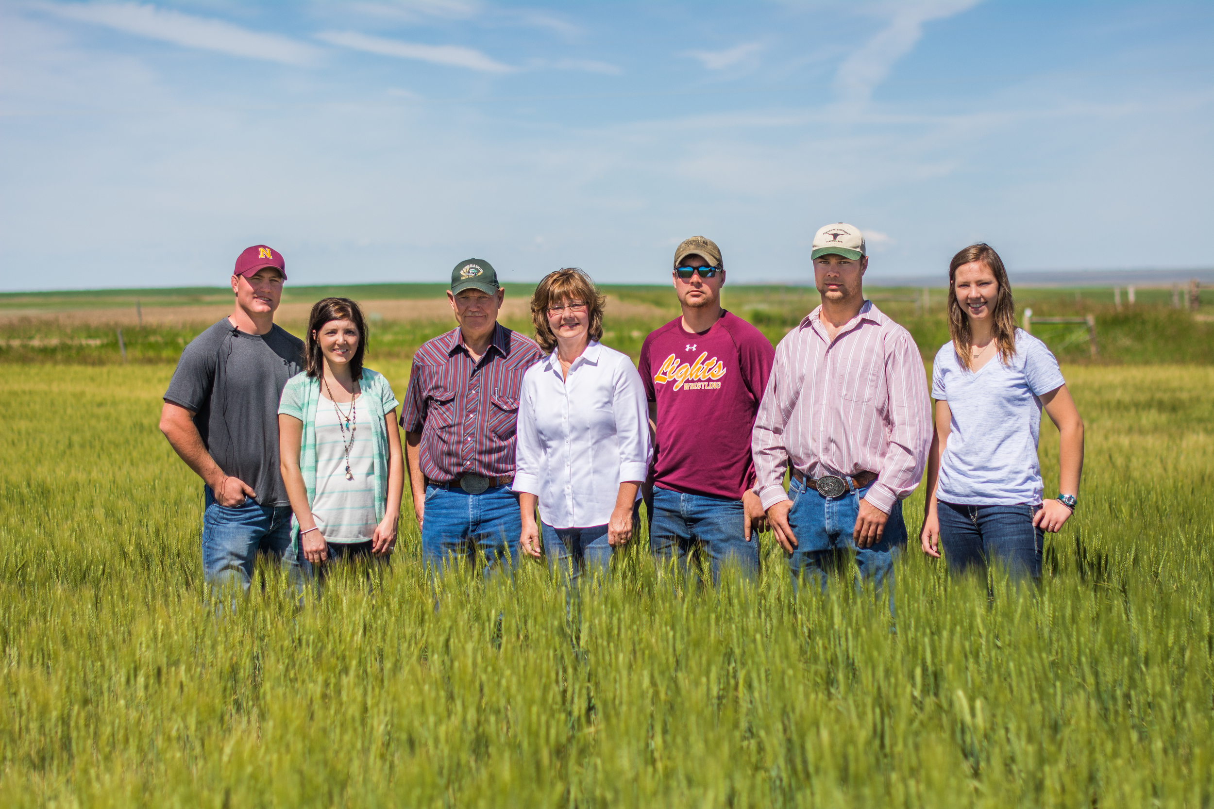Meet the Hinebauch family — multi-generational Organic farmers from Montana who source some of our organic wheat.