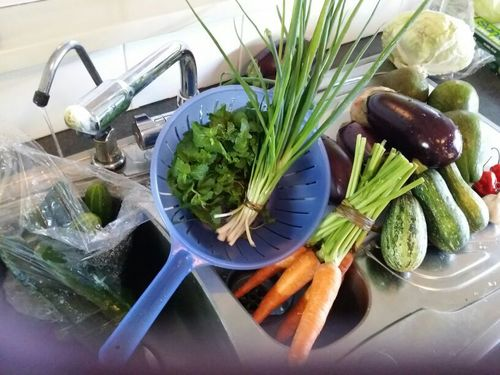 Delicious local vegetables