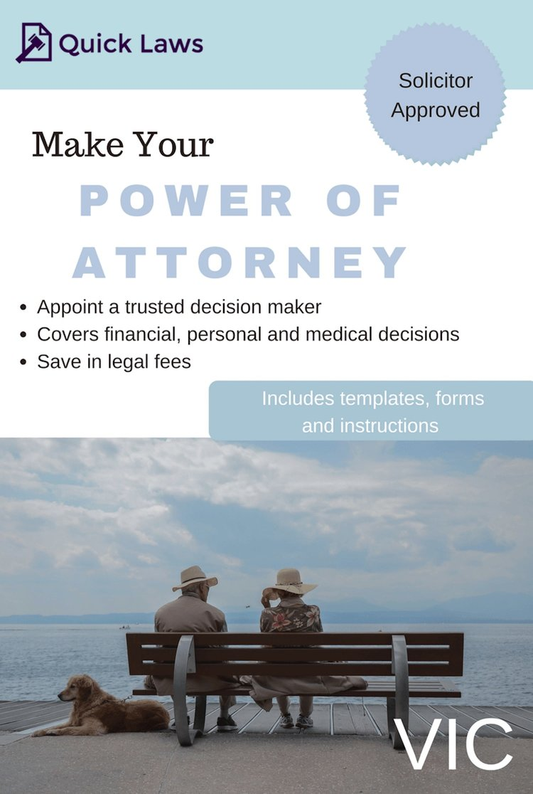 Power of Attorney kit (VIC) | Quick Laws on contract form, acknowledgment form, power of appointment form, easement form,