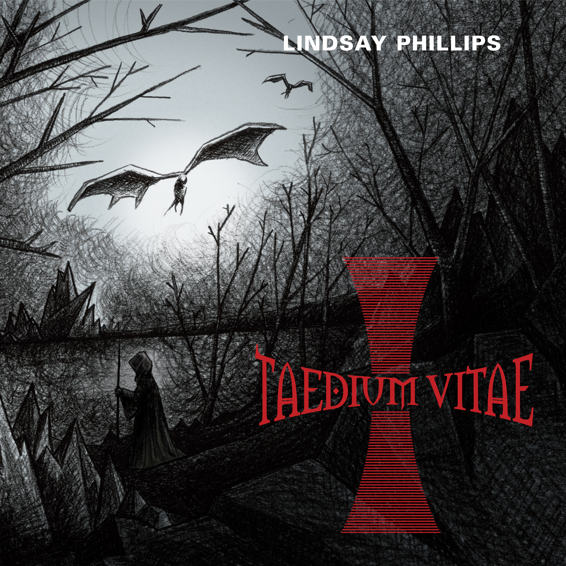 """""""Taedium Vitae  (Latin for """"the weariness of life"""") is Phillips' second album, following 2010's equally beguiling  Varning . Don't be fooled by the metal cover art; this is sparse, acoustic folk that's at turns rousing, bleak, beautiful and dour. When Phillips' warble wraps around the pedal steel on  Only You (And The Lord) , you know you're in the presence of a rare artist.""""  DARREN LEVIN, 4 stars, The Age   Read more:    Find  Lindsay Phillips   Available at  Bandcamp   produced by Myles Mumford  recorded at Atlantis Sound and Headgap  mixed by Myles Mumford  mastered by Simon Grounds  artwork/design by Cally Bennett  a Departed Sounds release"""