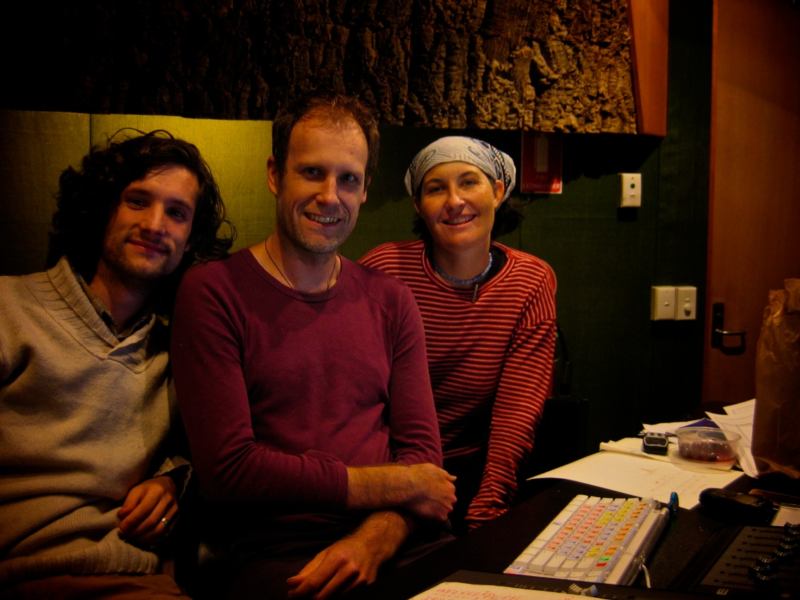 Anthony Lyons, Liz Flynn and I at Sound Research Studios at VCA.jpg