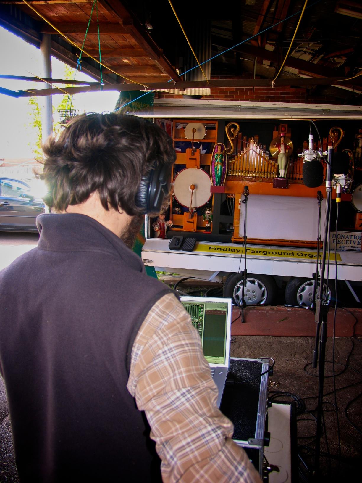 Recording the Findlay Fairground Organ.jpg