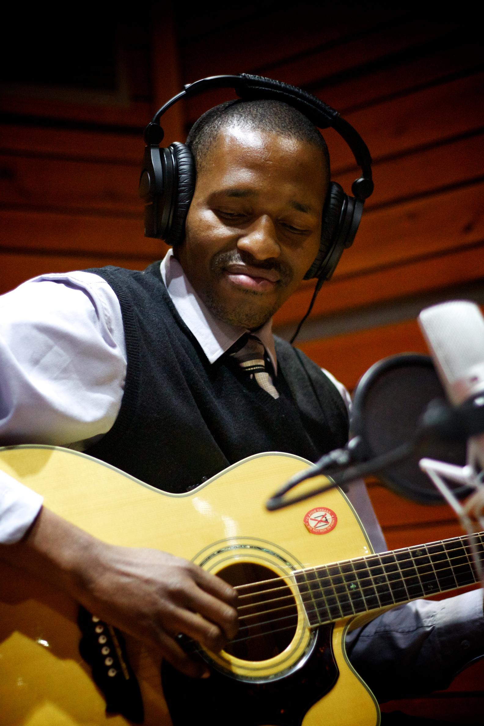 Dusty Simelane recording a track for the new Lusweti album Sitawuphumelela - Songs of Hope (1).jpg