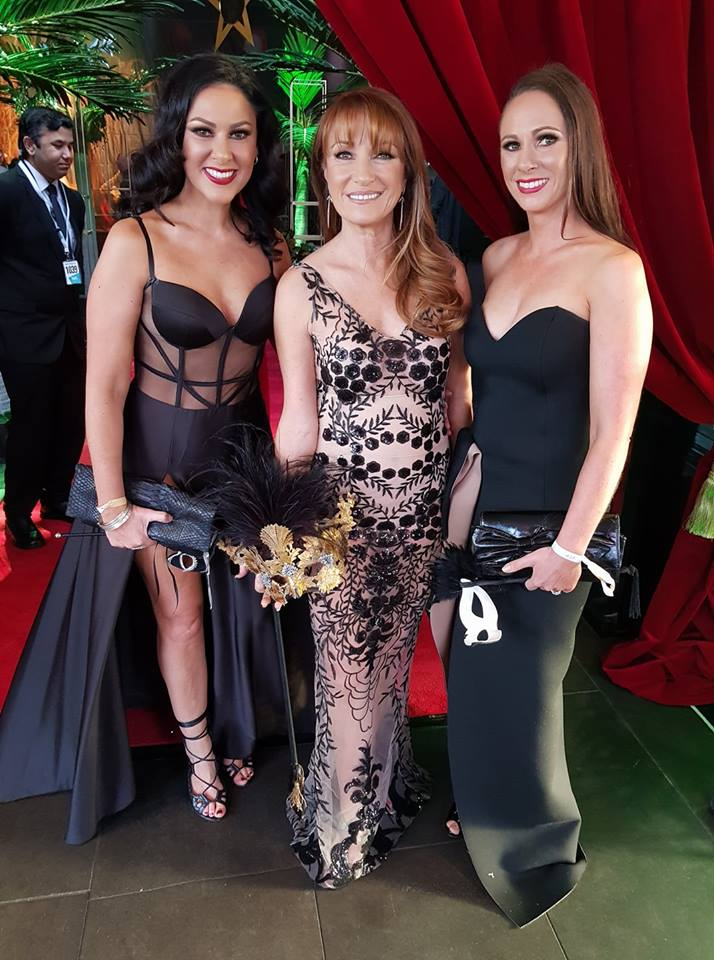 Attending the Carnival Ball in Melbourne with Jane Seymour and my Sister Katrina. Jane was beyond kind and lots of fun too!