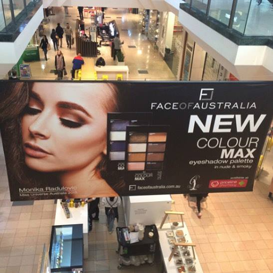 My work on a billboard in Chadstone Shopping Complex. Photographer Vivienne Steer