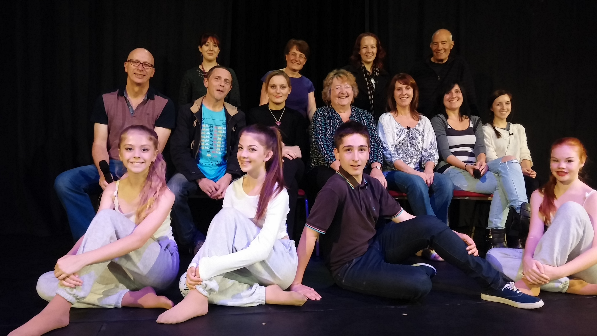 The brilliant cast and dancers, joined by a member of the back stage team,who made Star Prize such an amazing experience!