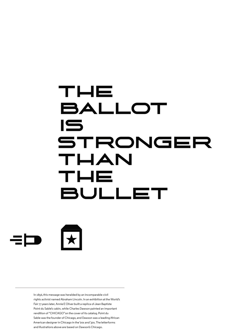 Tanner Woodford's The Ballot is Stronger Than the Bullet poster