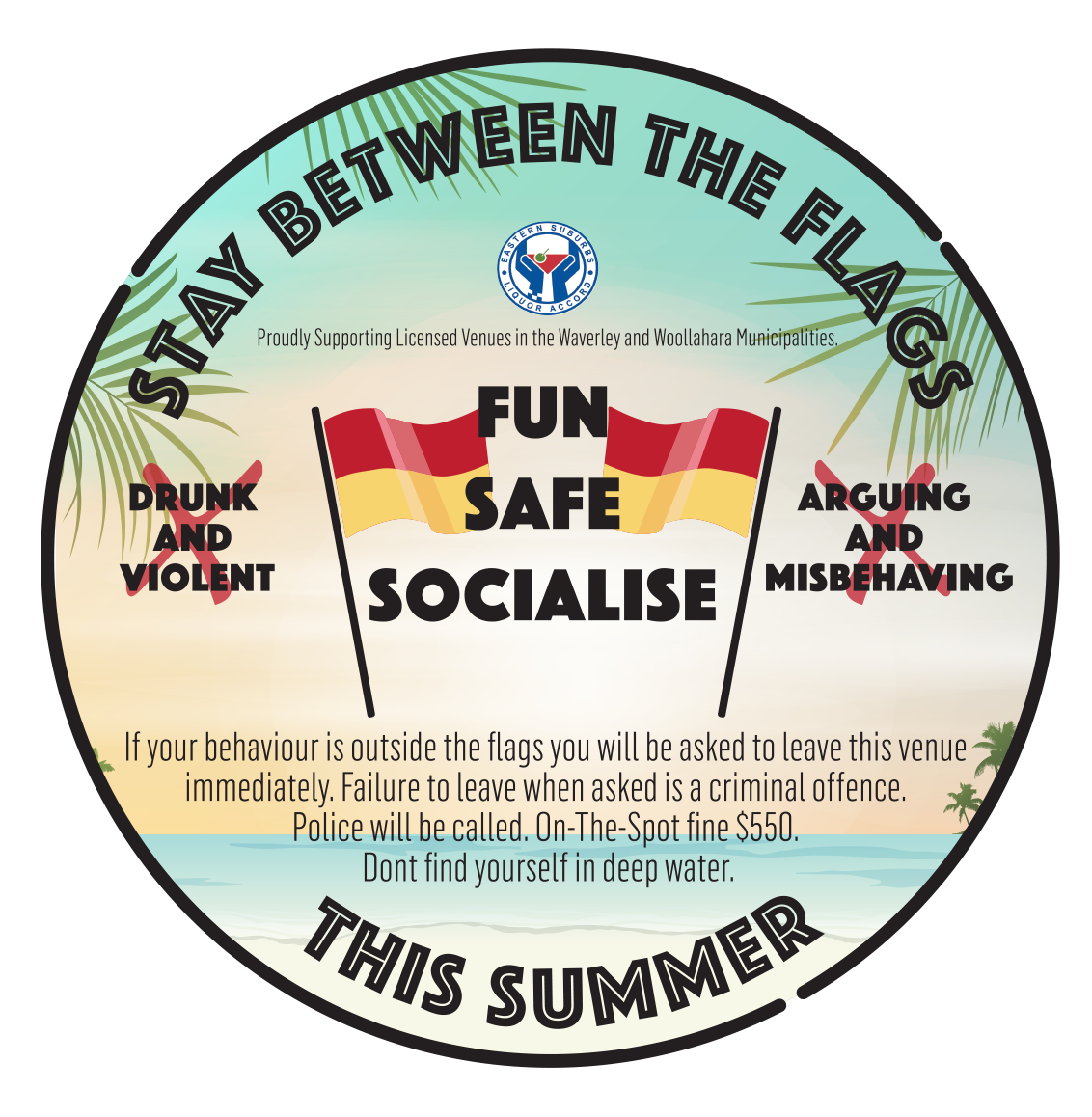 Coaster design for pubs and clubs in Sydney's Eastern Suburbs