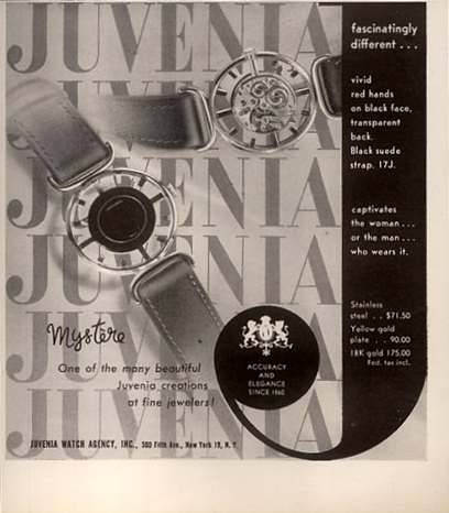 Juvenia  Mystère  period advertisement