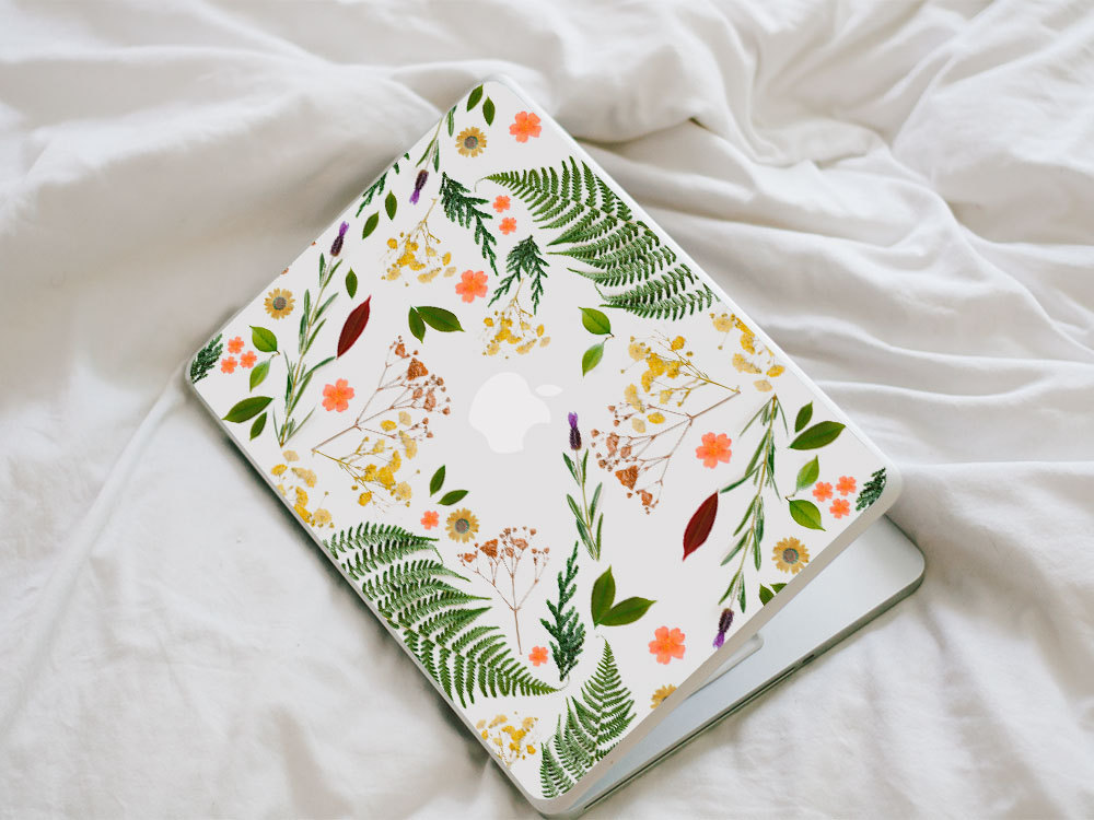 Macbook Flower Decal