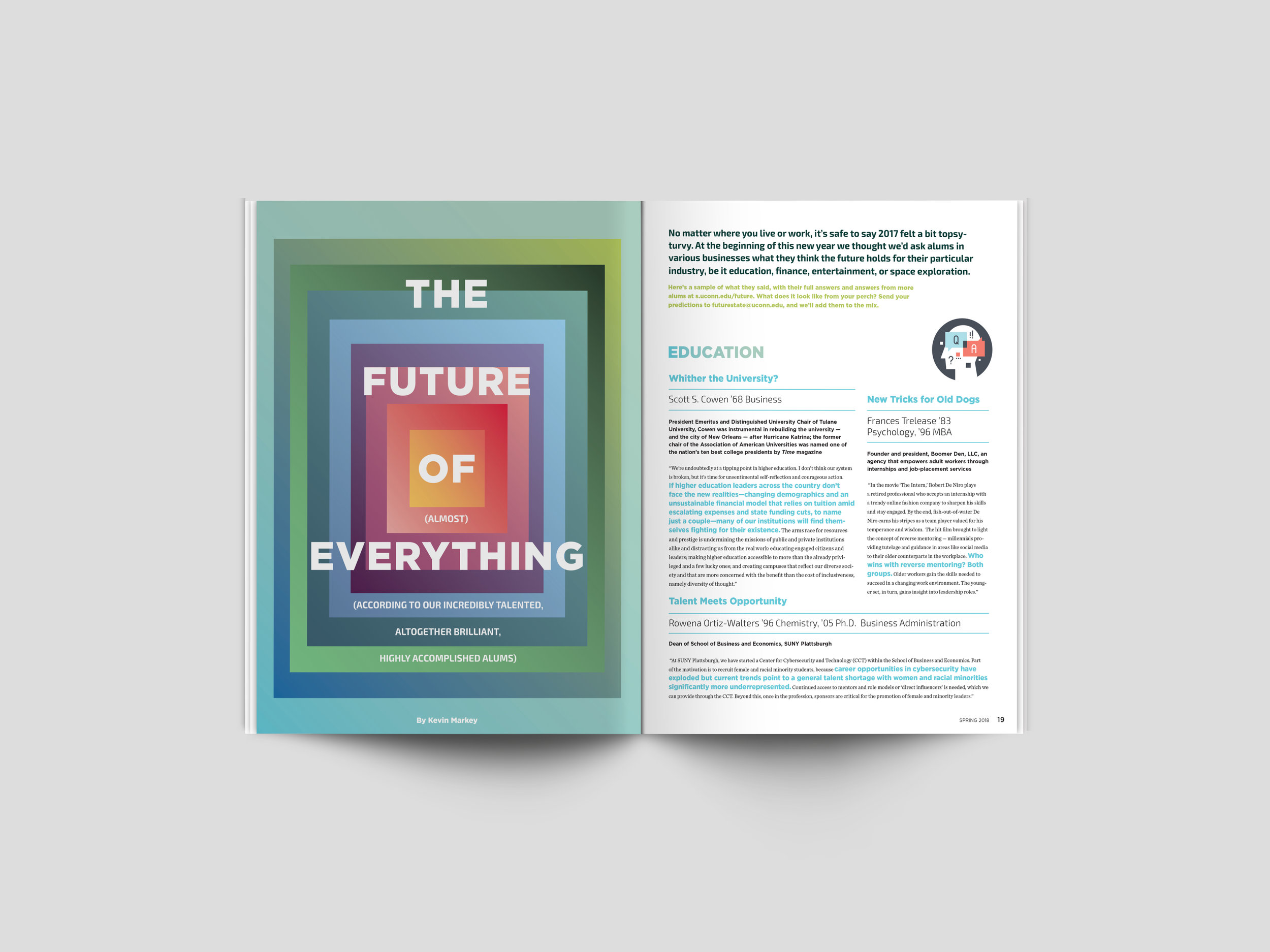 The Future of (Almost) Everything (According to Our Incredibly Talented, Altogether Brilliant, Highly Accomplished Alums) – Spring 2018