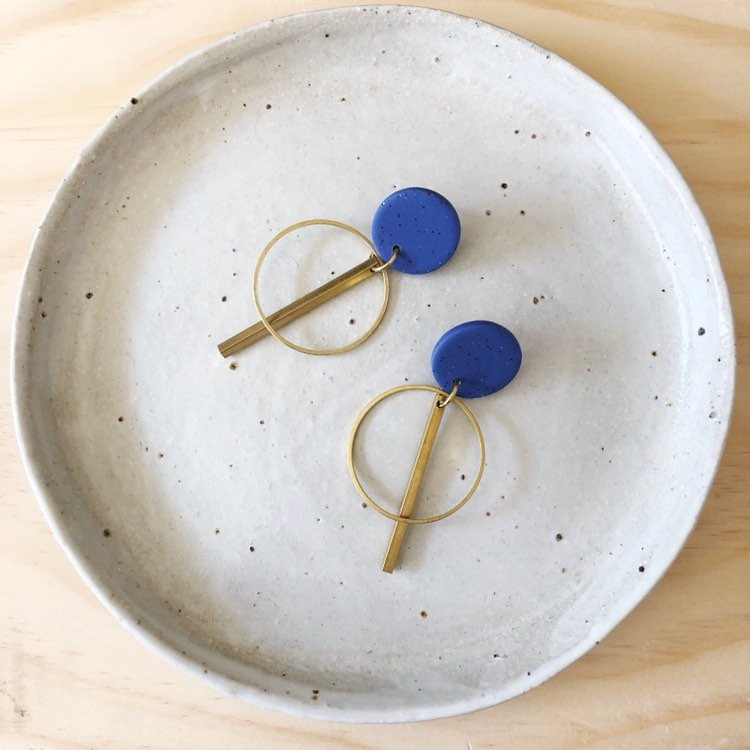 Clay & Brass Earrings