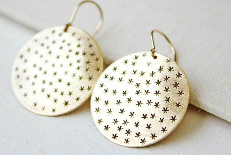 Galaxy Brass Earrings