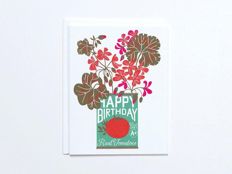 Tin Can Birthday Flowers