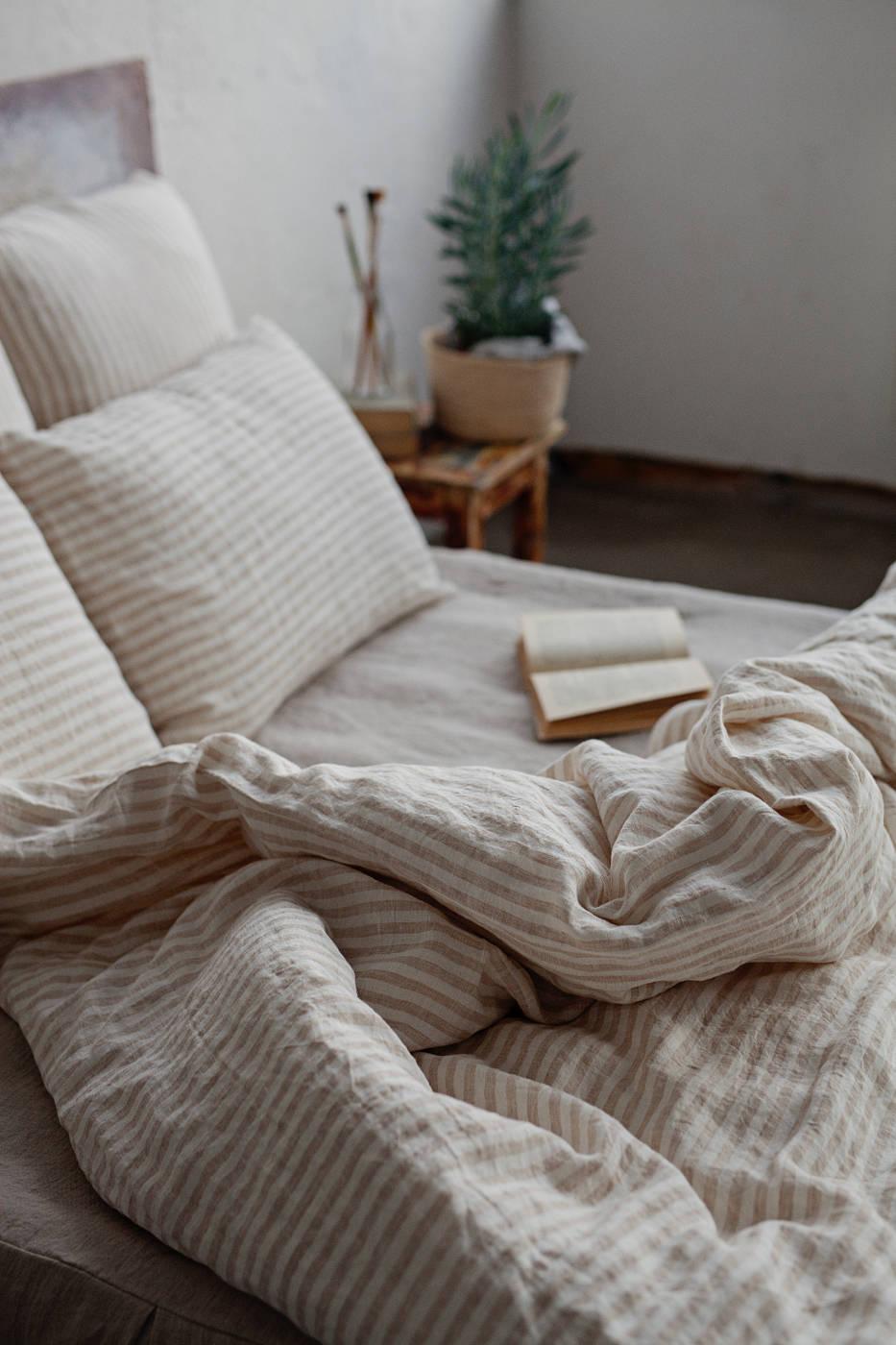 Striped Linen Duvet