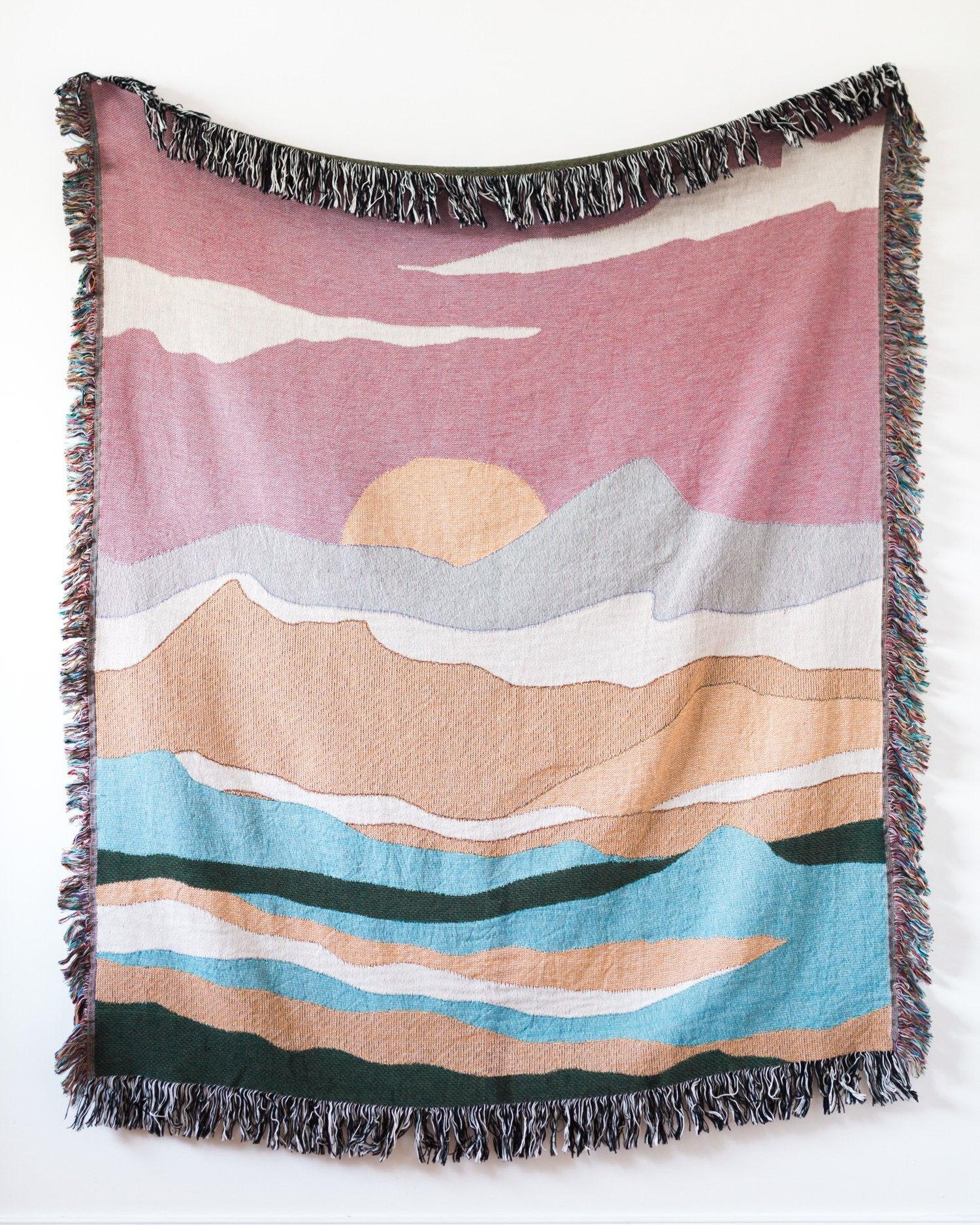 Pink Landscape Blanket