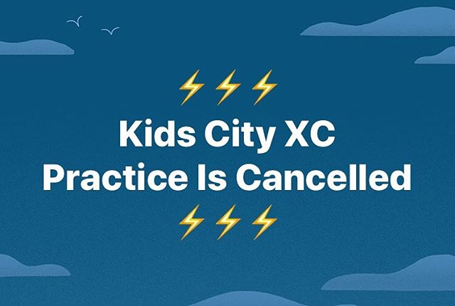 ⚡️Mother Nature stole our thunder⚡️ . Practice is cancelled Thursday, September 12. Stay safe!