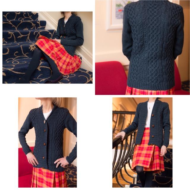 Kildalton by Kate Davies knit in Buachaille colour: Moonlicht Nicht