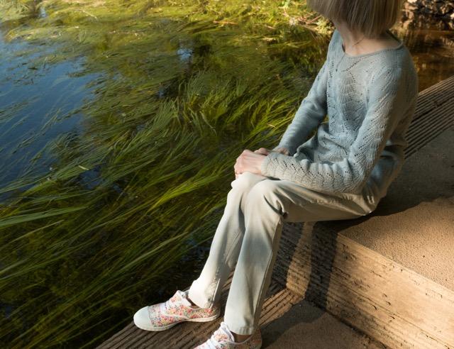 textures along the riverbank