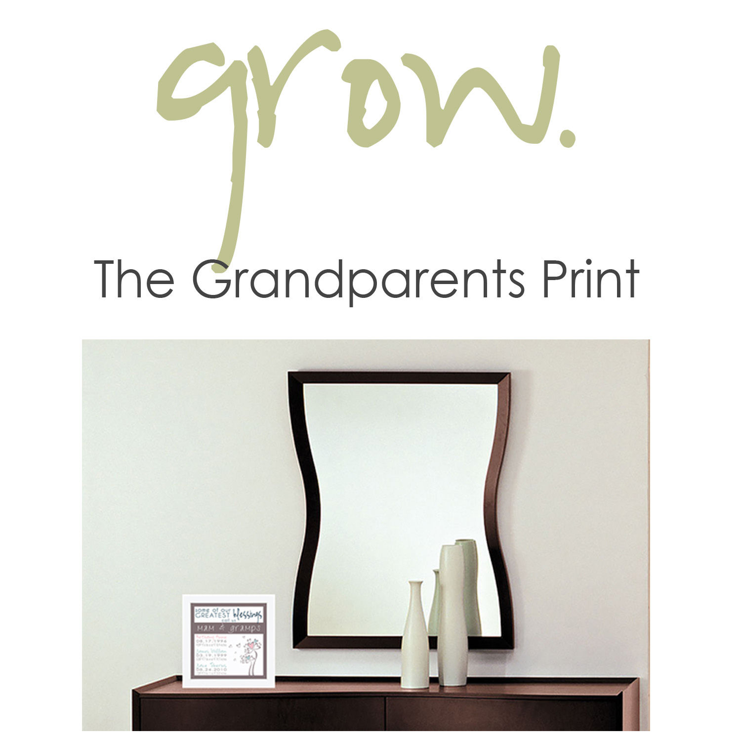 Present the grandparents in your life with a personalized gift sure to warm their hearts forever.