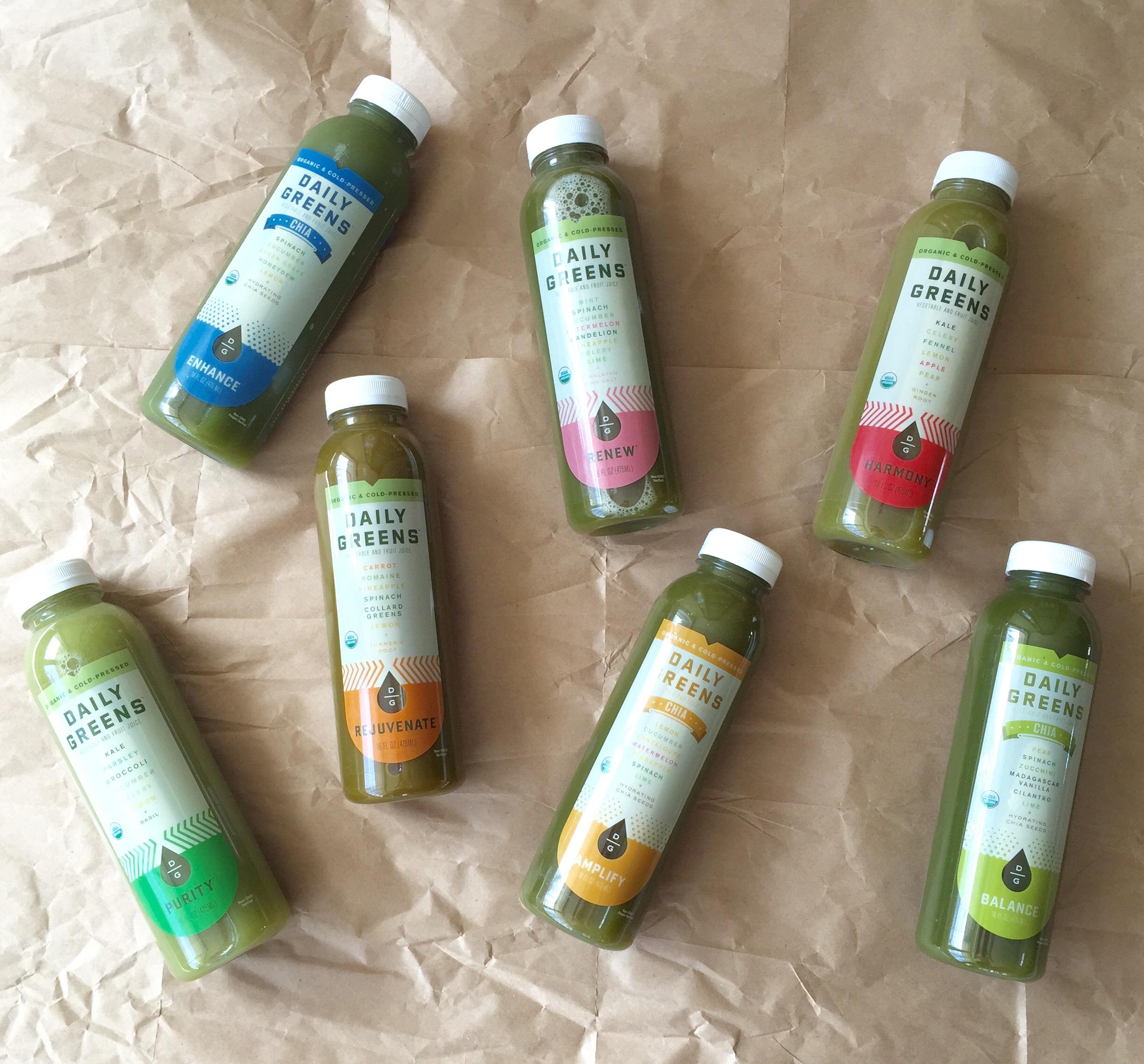 DAILY GREENS | GREEN JUICES | YES! NUTRITION LLC