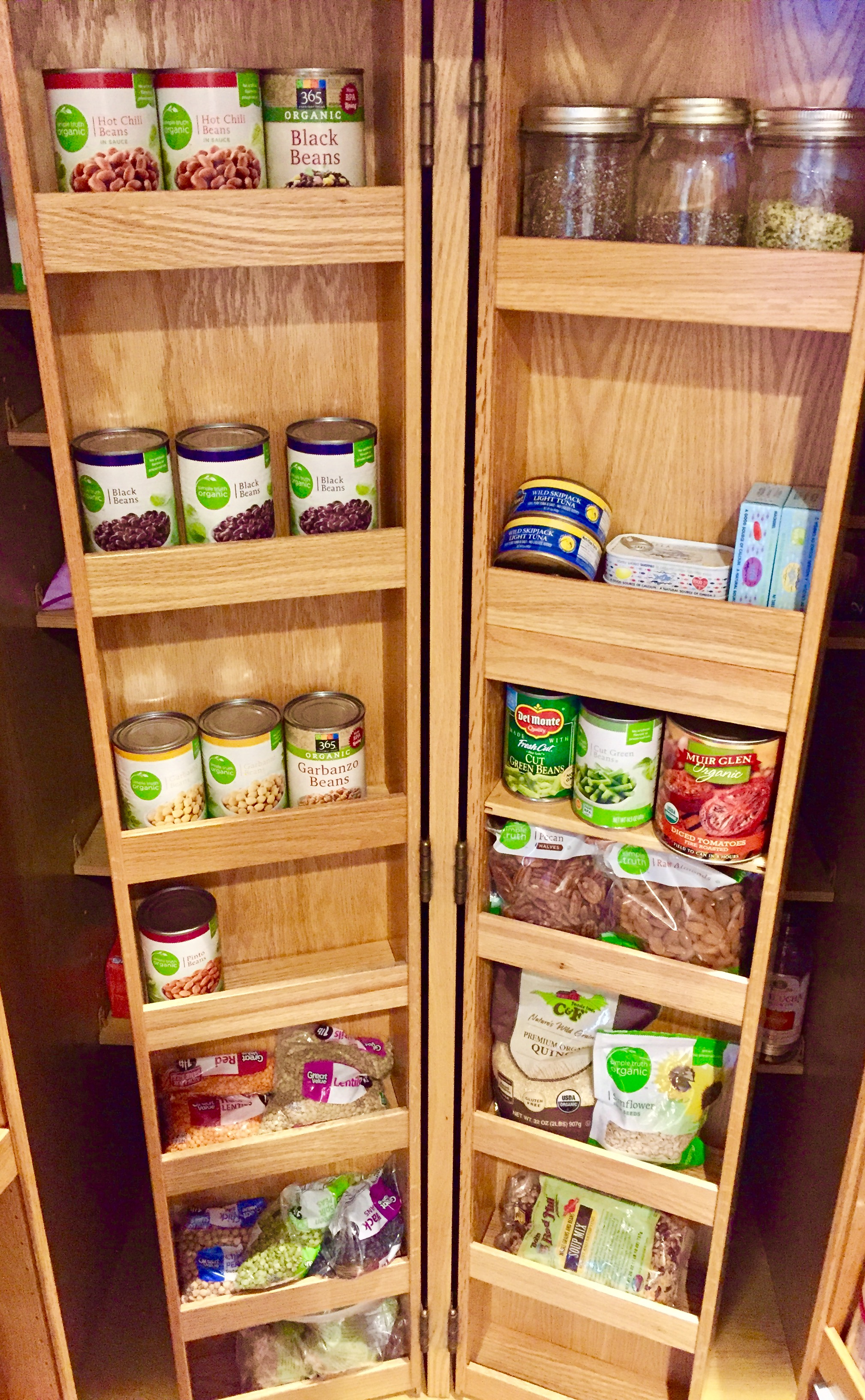 Healthy Pantry with Canned Foods