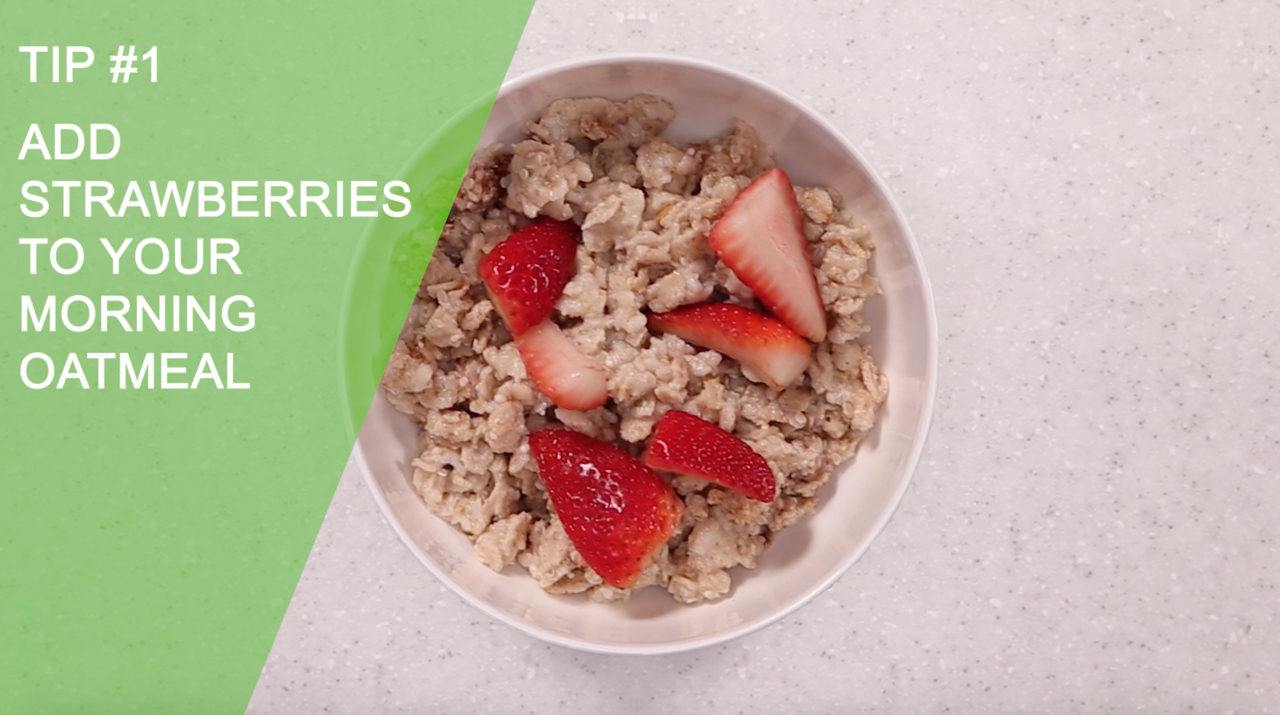 Add Strawberries On Oatmeal | Easy Healthy Creative Ways to Eat Strawberries | YES! Nutrition, LLC