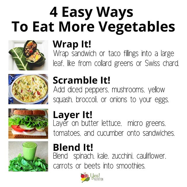 Only 9% of Americans eat enough vegetables each day! 🙀🙀 Yikes! ... You probably don't need me here to tell you why veggies are important (you already know that they are!), but what you might be looking for are some practical tips for how you can add veggies to the foods you are already eating like sandwiches, tacos, eggs, smoothies, and pizza. So, here are 4 super easy ways you can do just that! 💪💪 You've got this! Check out these tips then let me know your favorite way to eat your veggies...do you prefer them roasted, raw, in a salad or soup, grilled? #vegetables #health #nutrition #dietitian #goodfood 🍅🍆🥦🥬🥒🌶🌽🥕🥔🍠🥗