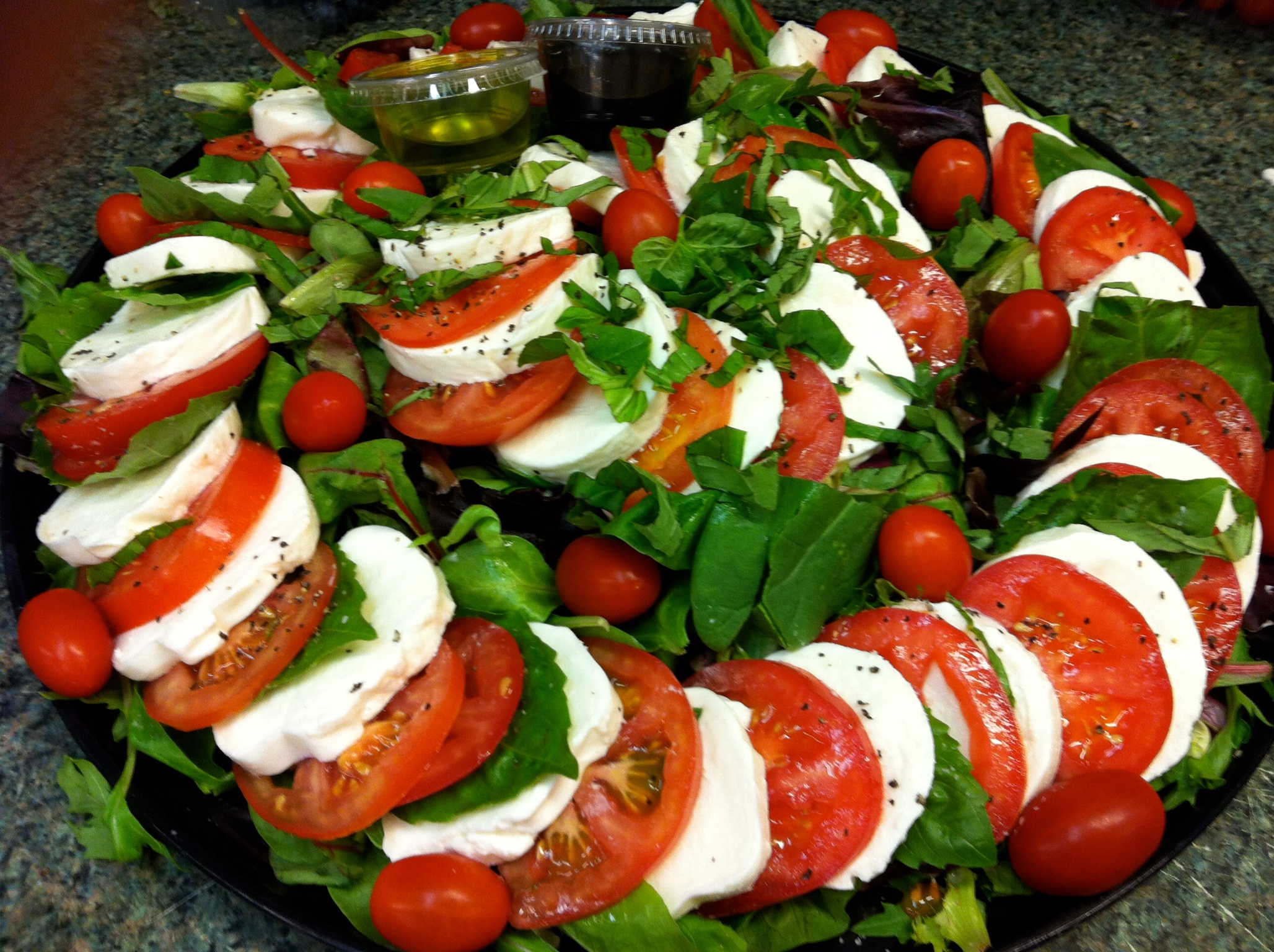 fresh mozzarella & tomato salad