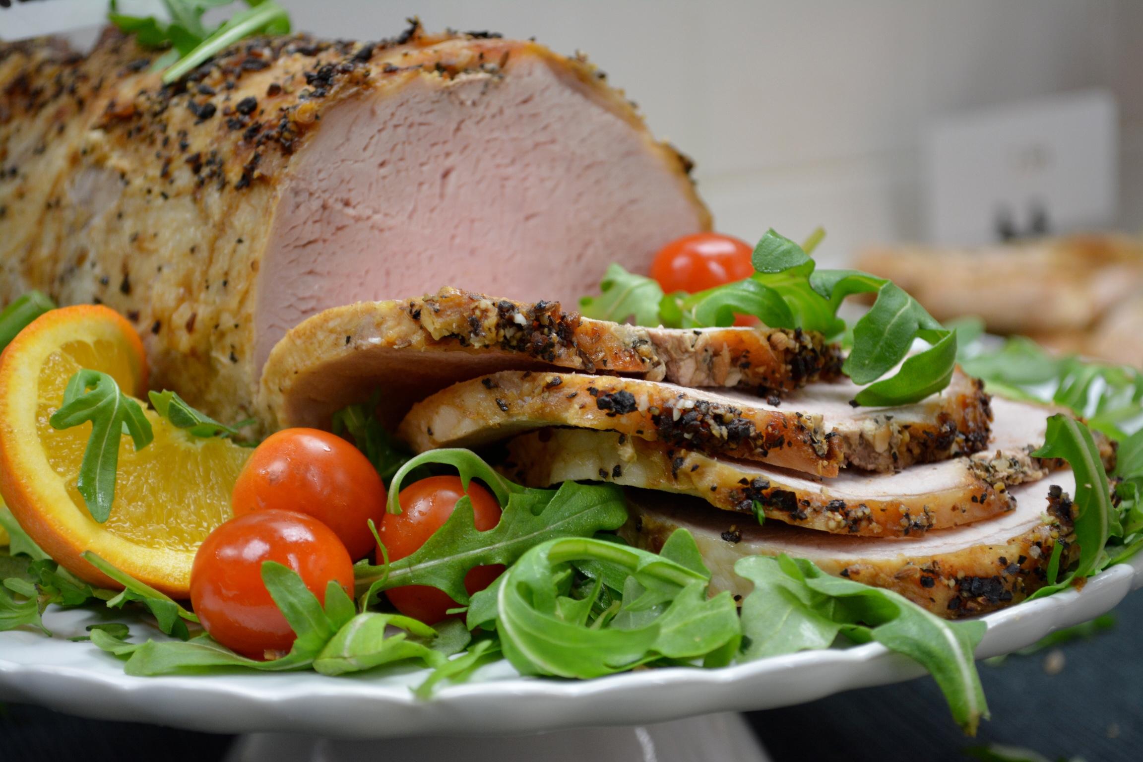 herb crusted roast pork