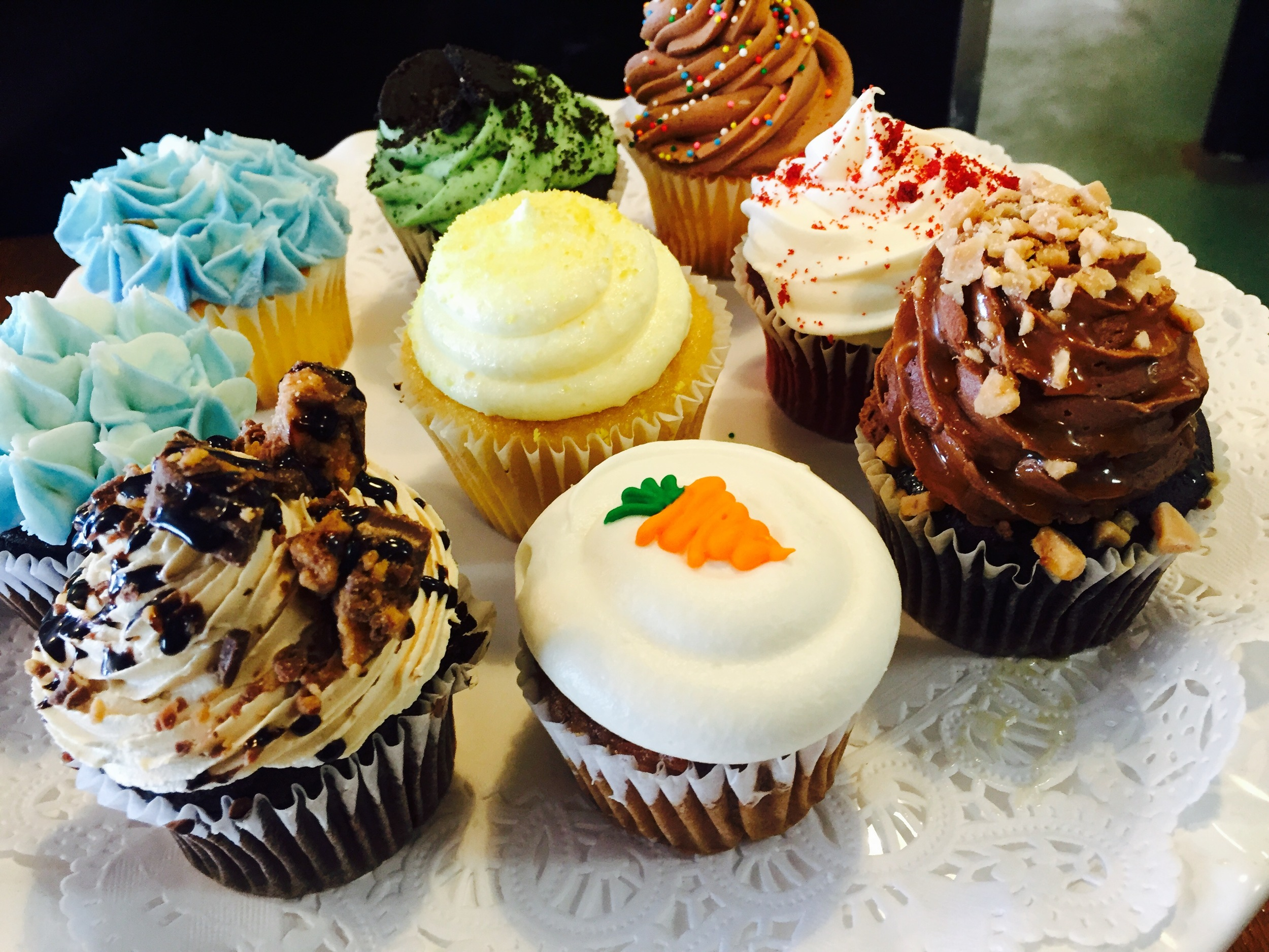 assorted classic cupcakes