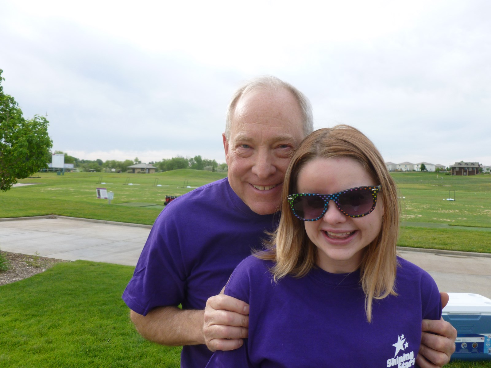 Kat with Shining Stars Medical Director, Dr. Larry McCleary