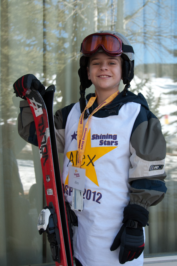 Alex at the Aspen Winter Games