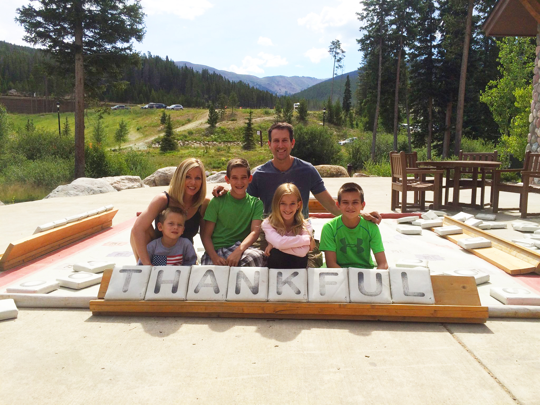 Alex and his family at the Grand County Adventure Program