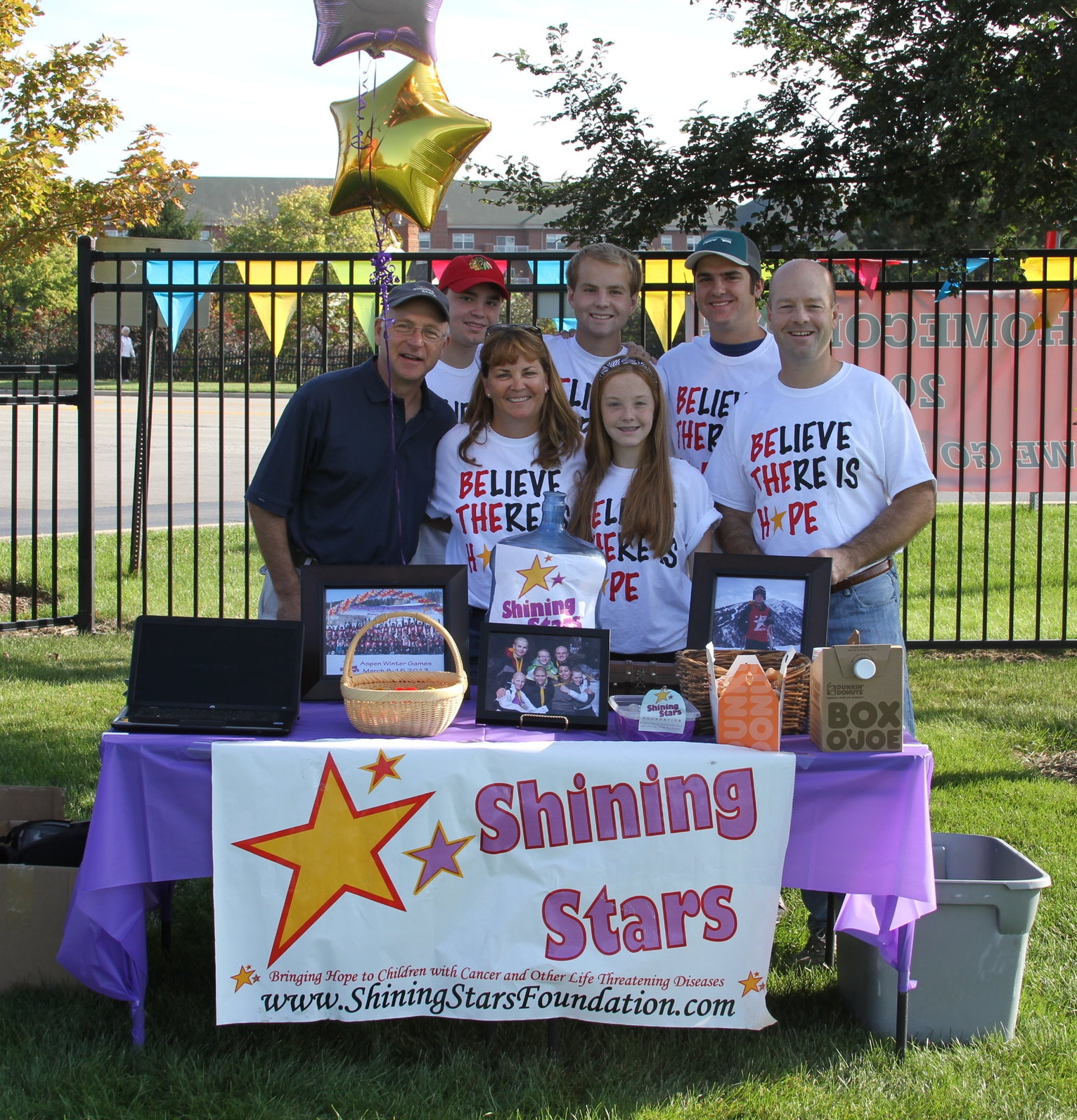 Bennett and his family organized an event to raise awareness for Shining Stars
