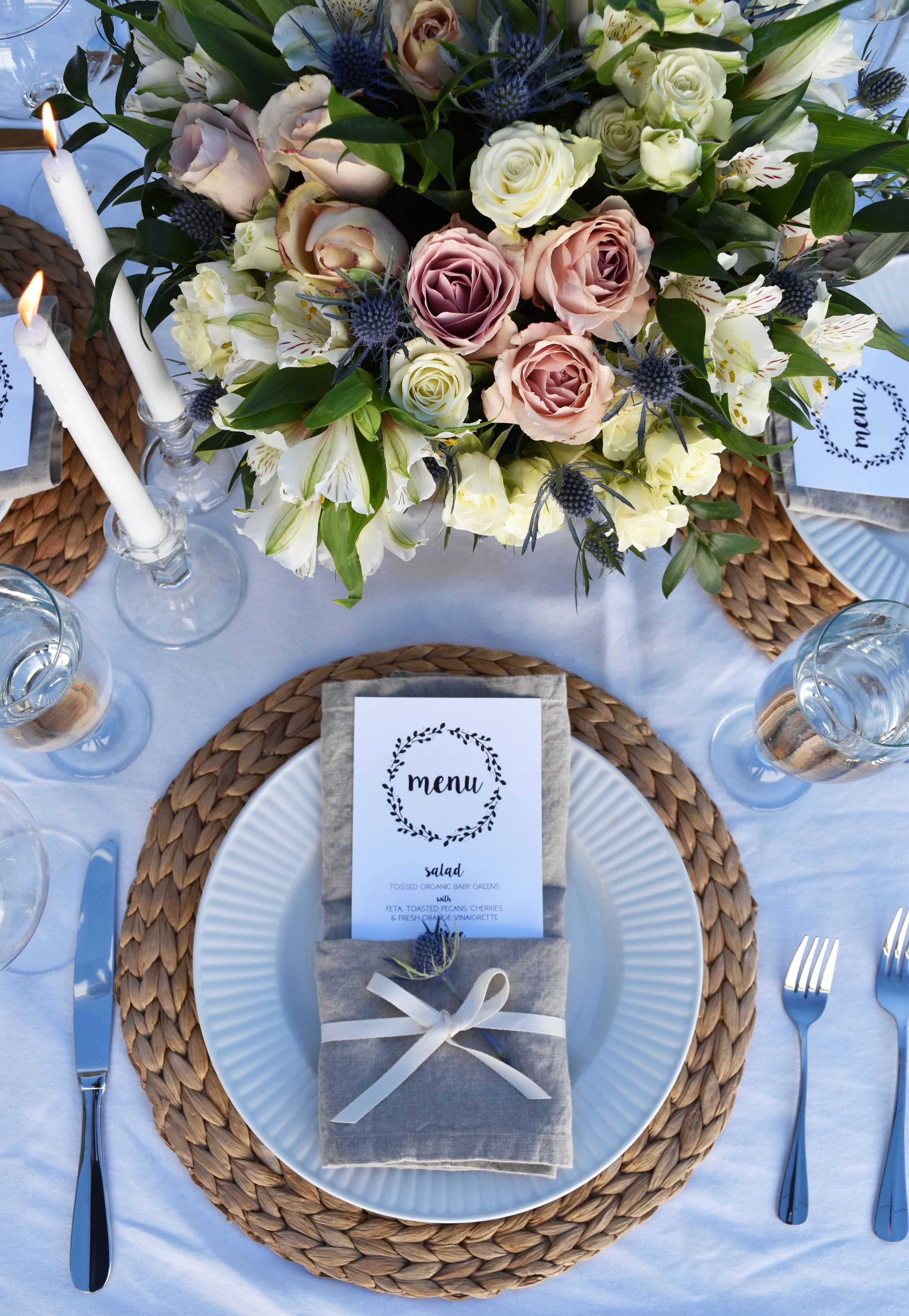 traditional wedding tablescape