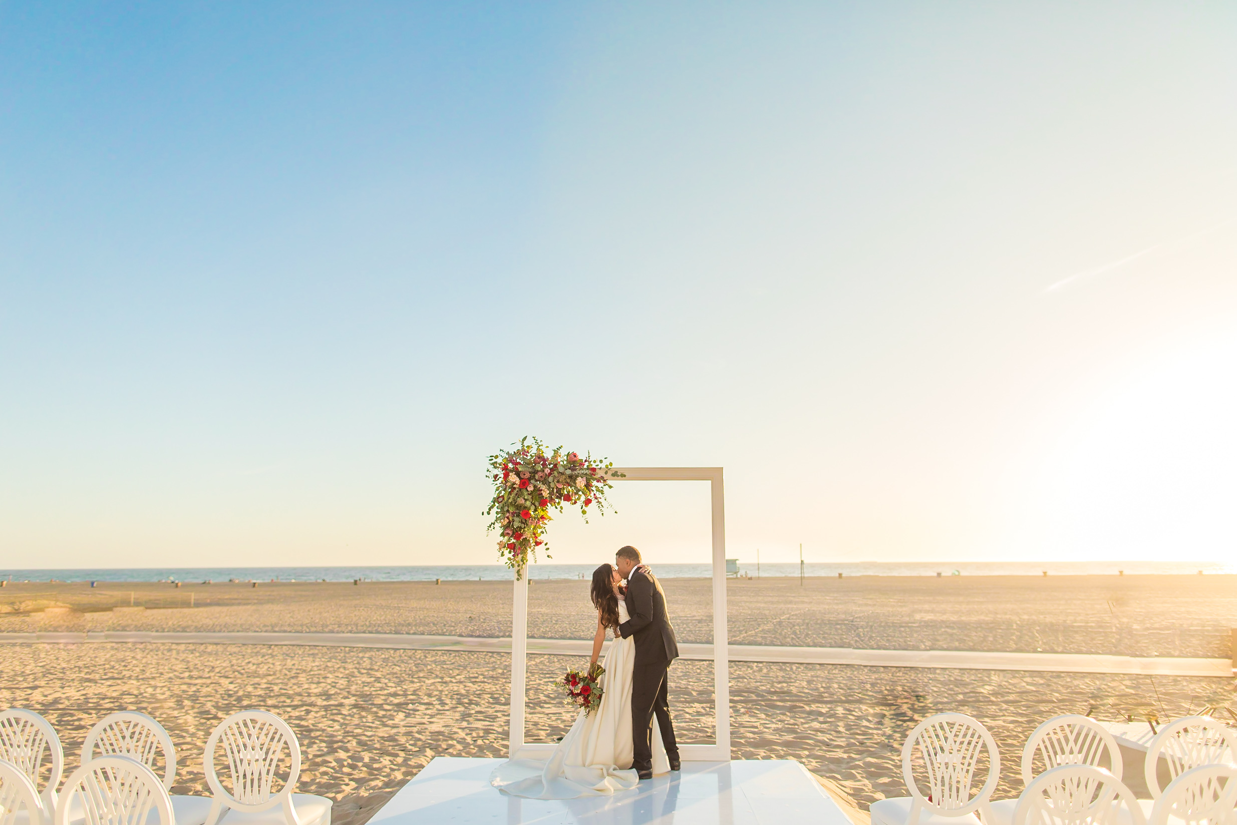 wedding at shutters on the beach