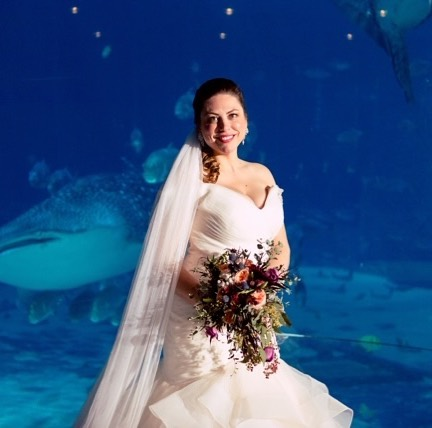 a beautiful bride against a gorgeous backdrop!