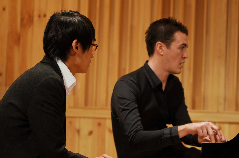 Rehearsing with Jeon Min Jae