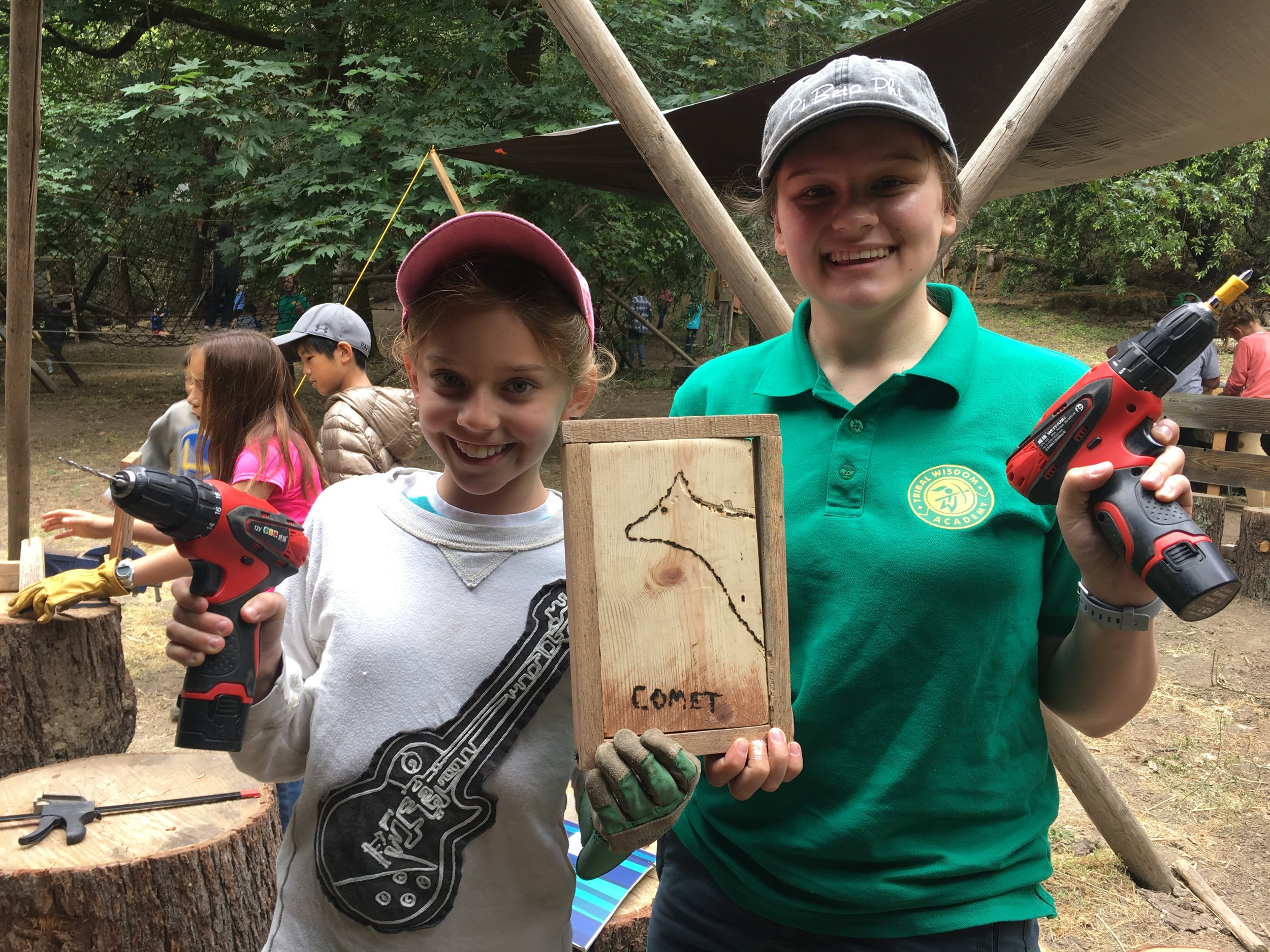 Mentor Monica Lemmon grew up in Santa Clara, now studies foreign languages and linguistics. This is the second year that Monica has been working at TWA. Monica nurtures a sense of adventure while guiding children in outdoor maker projects. -