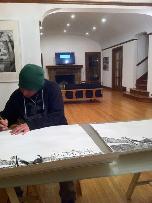 Mckee print signing