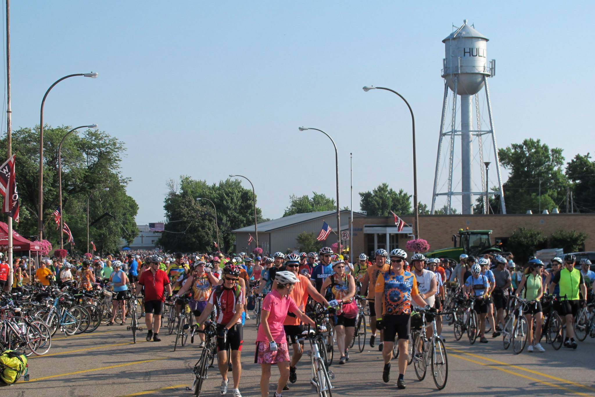 Iowa's small towns welcomed us with open arms as we swept in like locusts and ate everything in sight.