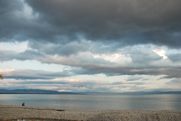 Lake Baikal. Four hundred miles long, a mile deep, 30 million years old, 20% of the world's fresh water.