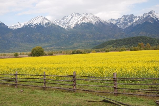 The Sayan Mountain Range separates Mongolia from the southern shores of Lake Baikal.